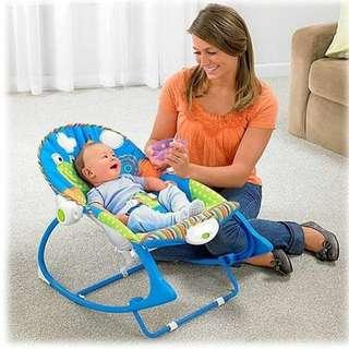 Baby Rocker Bouncer New Born Toddler Music Chair with Safety Belt