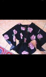 Baju kalong bunga pinggang karet