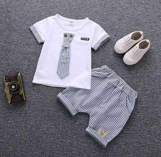 🌟PM for price🌟 🍀Baby Boy Cotton T-shirt+Shorts 2pcs Set🍀