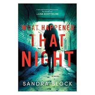 E-book English Book - What Happened That Night - Sandra Block #OCT10