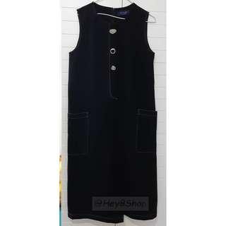 時尚黑色背心連身裙  2018韓版 ,兩側有袋, 修身顯瘦 全新! new,fashion, black one piece dress **包順豐站自取