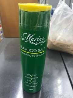 Marine essence bamboo salt body wash