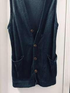 Turquoise Knitted Vest