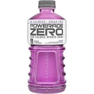 POWERADE ZERO, Zero Calorie Electrolyte Enhanced Sports Drink, Grape, 32 fl oz