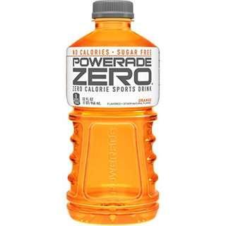 POWERADE ZERO, Zero Calorie Electrolyte Enhanced Sports Drink, Orange, 32 fl oz
