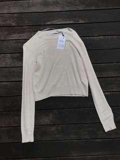 Bershka knitted cream pullover
