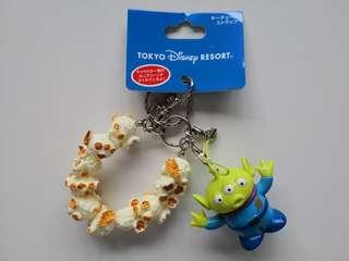 NEW WITH TAG | Toy Story Martian Green Alien Cute Popcorn Bracelet Key Chain / Mobile Phone Accessory - in perfect condition