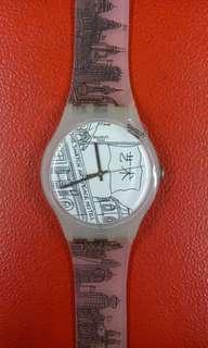 SWATCH ORI SUOZ197 / BLACK & WHITE THE SWATCH ART PEACE HOTEL