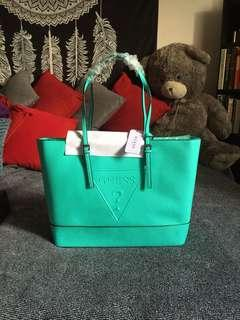 AUTHENTIC Guess Peak Tote in Turquoise