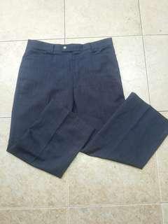 Office Pants Navy Blue Japanese Style Cutbrai