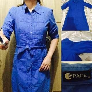 SPACE button down blue dress SALE ‼️✨