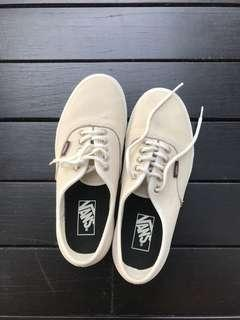 Vans cream leather sneakers