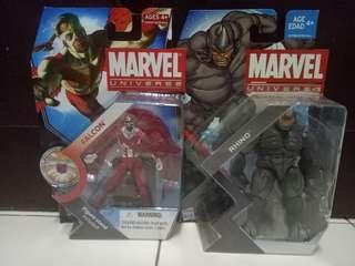Marvel universe falcon & rhino
