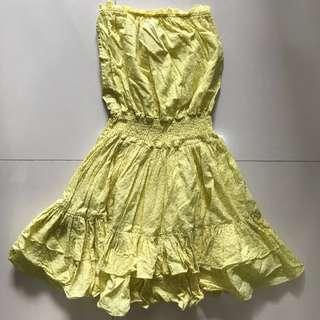 Preloved MODA International yellow tube dress
