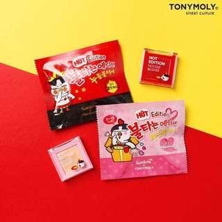 韓國🇰🇷TONYMOLY ✖ SAMYANG 聯名彩妝系列 辣雞麵腮紅 胭脂 $98 包平郵
