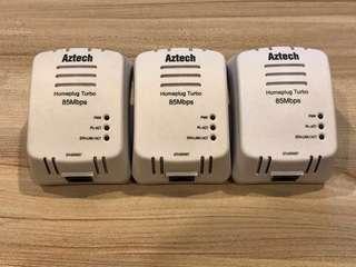 3x Aztech Homeplug Turbo