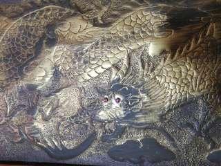Brass/copper dragon scroll. Unknown