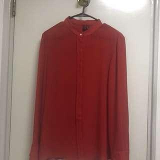 Mango Red Blouse