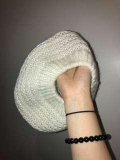 White wool beret