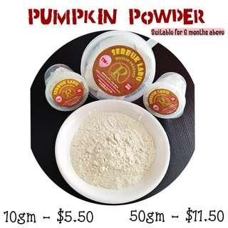 Pumpkin powder for babies and toddlers