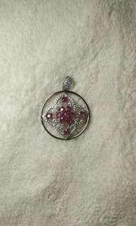 Mogok Heated Ruby Pendant with 925 sterling silver