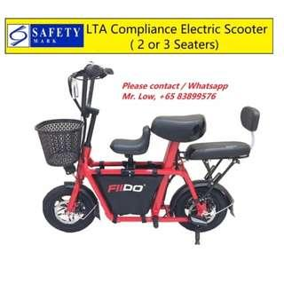 Fiido Electric Scooter (LTA Compliance, 2 or 3 Seats)