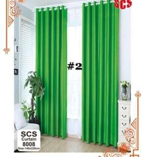 FREESF 2pcs set curtain with rings