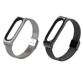 [Juniorcloset] 🆕️ Xiaomi band 3 strap - stainless steel (Silver/ Black) From $13
