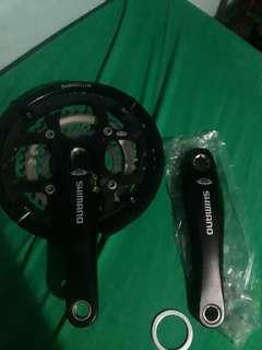 Shimano downhill crankset without bb