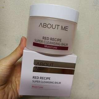 韓國 About Me Red Recipe Super Cleansing Balm 落妝膏 卸妝膏 90ml