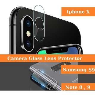 Camera Glass Lens Protector IphoneX, Samsung Series, Mi Mix2