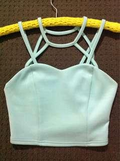 Supré Brand Baby Blue Crop Top