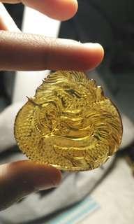 Transparent Yellow dragon craft