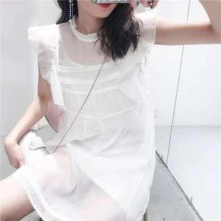 純白色裙➕內襯