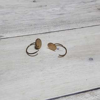 🚚 簡約圓片耳環