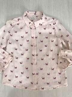 Zara Girls Cat Shirt