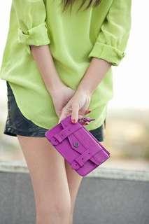 Proenza Schouler PS1 leather zip case