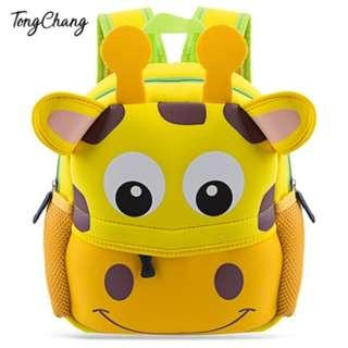 Colorful Cartoon Animal Design Waterproof Durable School Bag for Children