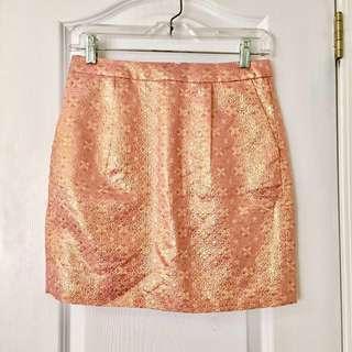 Jcrew Rose Gold Mini Skirt