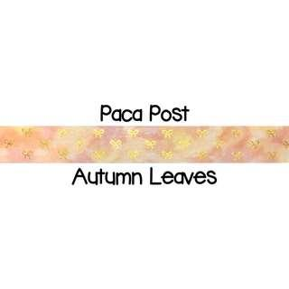 Paca Post Autumn Leaves Washi Tape Samples