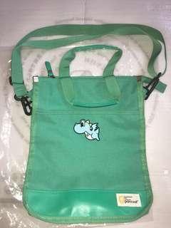 Korea Pancoat Spearmint Sling or crossbody And Handcarry Schoolbag