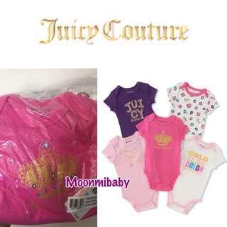 🌸現貨2⃣️套🌸 🇺🇸美國入口一Juicy Couture bodysuit (1set 5件) - CROWN