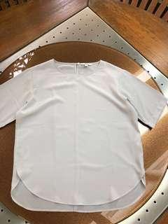 Uniqlo Light Grey Top (Size M)