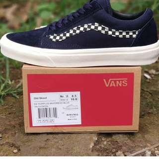 van oldskul checkerboard navy