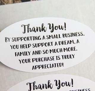 Thank you to my loyal customers