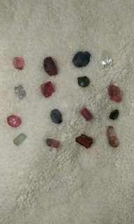Mogok rough raw gemstones