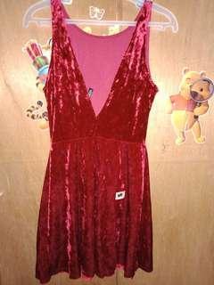 H&M Red Velvet Sexy Dress