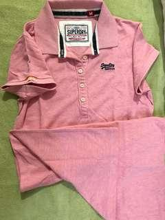 Brand New - Superdry Polo Shirt Dress, Pink, Medium
