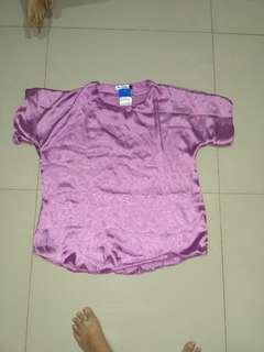 Purple silky top