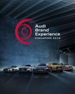 Audi brand experience admission tickets